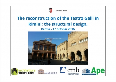 The reconstruction of the Teatro Galli in Rimini: the structural design.